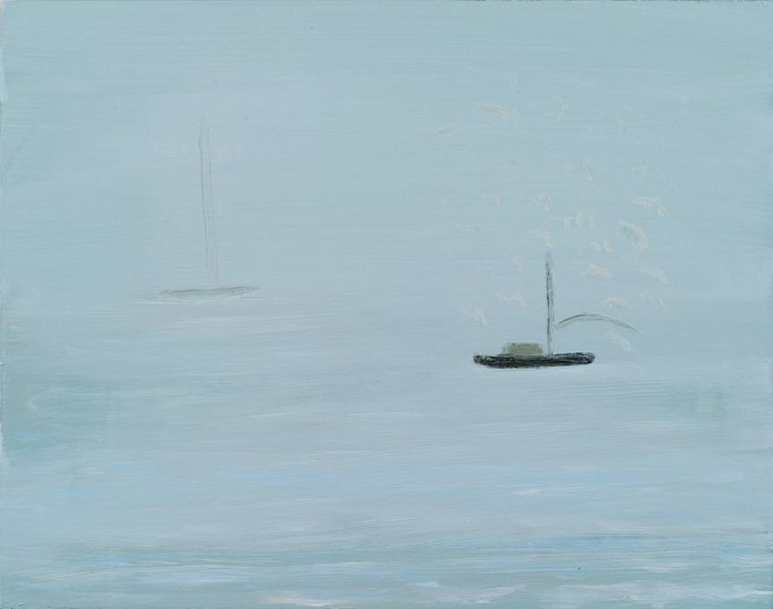 Kathryn Lynch, Boat Out To Sea 2015, oil on board