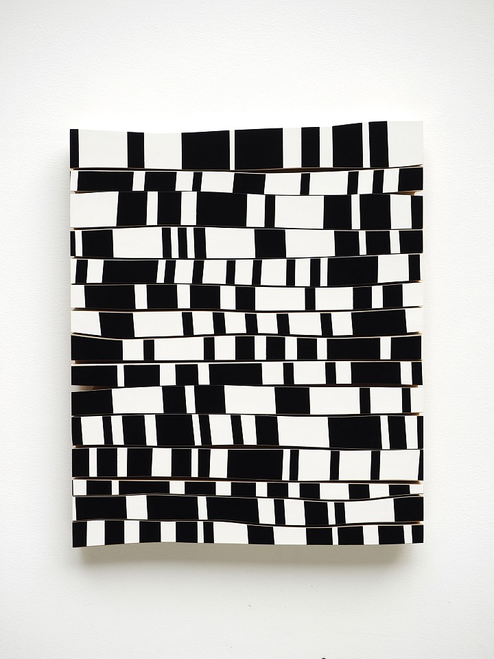 Andrew Zimmerman   checker , 2018  ZIM523   formica laminate on wood, 25 x 21 x 1 1/2 inches