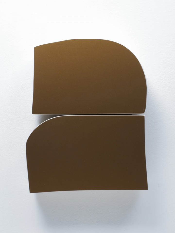 Andrew Zimmerman   Mayan Gold 1 , 2018  ZIM603   Automotive paint on wood, 13 1/2 x 11 x 2 inches