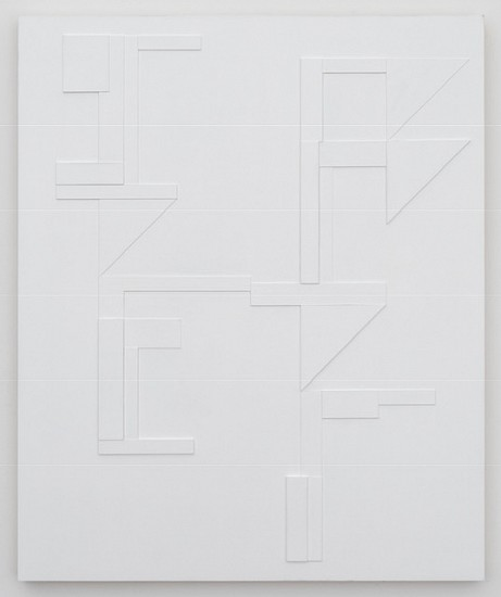 Agnes Barley, Untitled Relief 2018, acrylic on panel