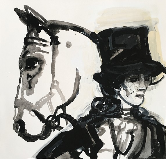 Suzy Spence, Hunter, Tophat 2019, flashe on paper