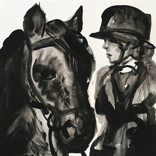 Suzy Spence, Hunter, Tophat II 2019, flashe on paper