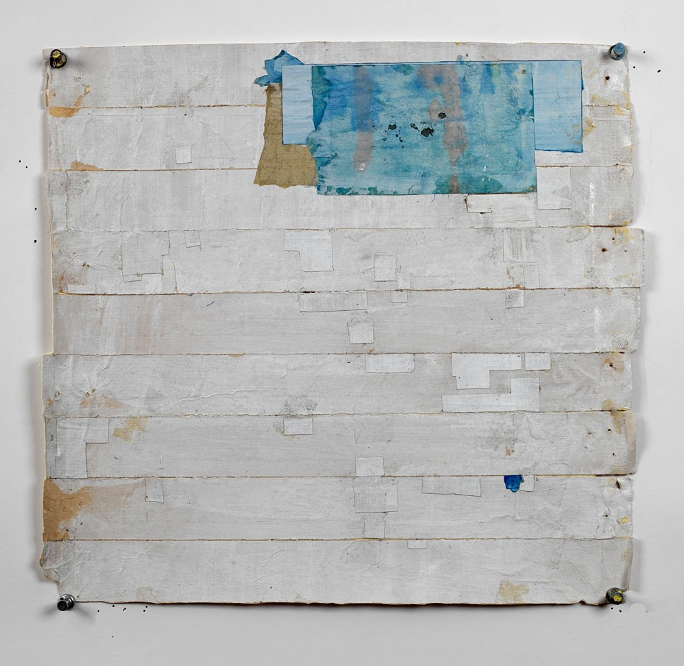 Eugene Brodsky (LA)   SB 12 , 2019  BROD361   Mixed media, 14 x 13 inches, 21 3/4 x 20 3/4 inches framed