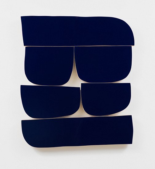 Andrew Zimmerman (LA), True Blue 2019, Automotive paint on wood