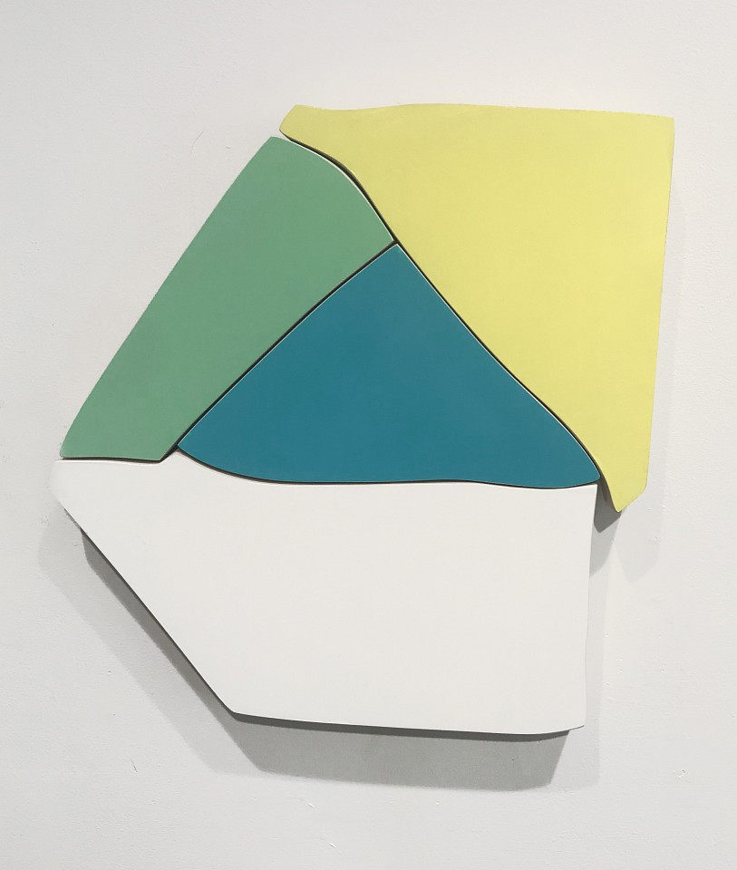 Andrew Zimmerman   Untitled , 2019  ZIM660   Automotive paint on wood, 13 1/2 x 13 inches